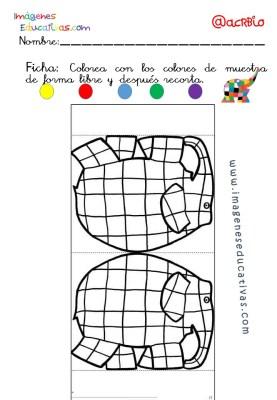 Elmer Elefante atención y grafo (7)