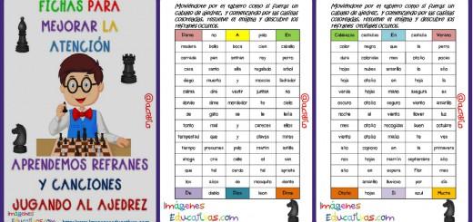 Fichas atención Refranes y Canciones Salto de Caballo Portada