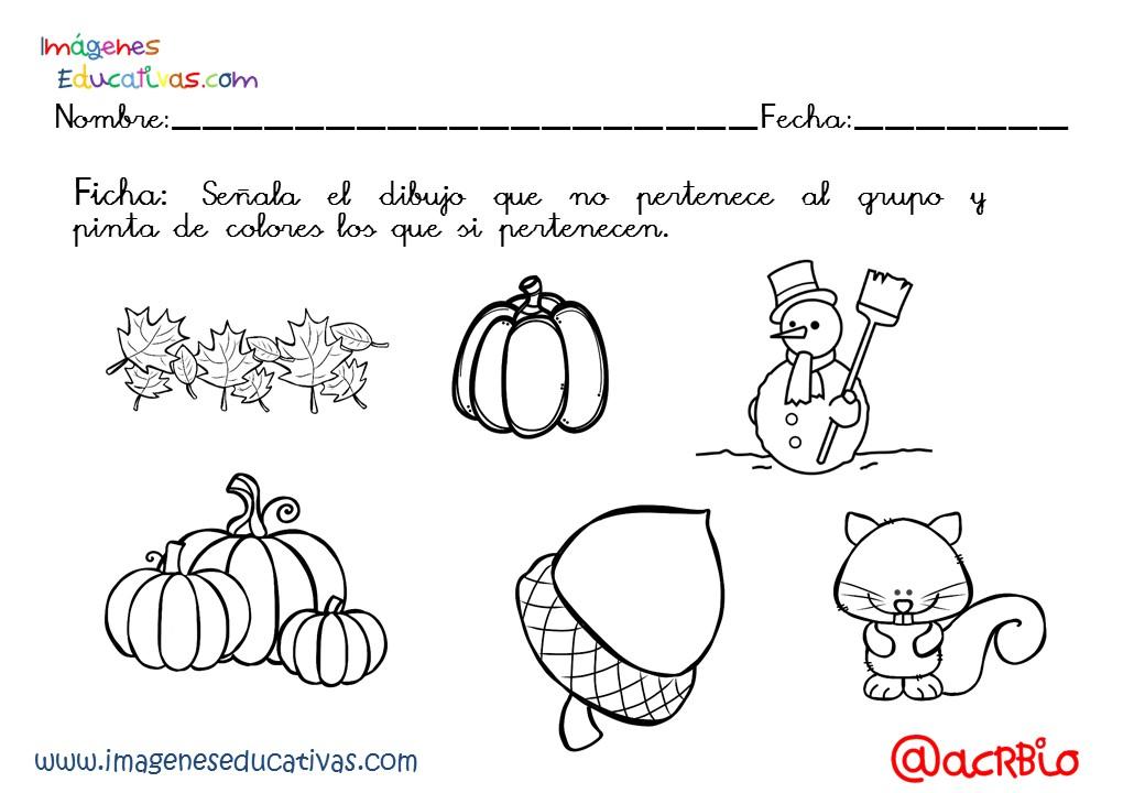 Dibujos Colorear Otono Infantil: Fichas Otoño Infantil Y Primaria (21)