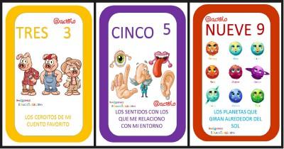 Preciosas cartas para aprender los números jugando Portada