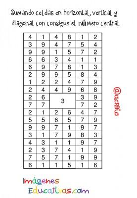 Sopas de Numeros Repasamos la suma (8)