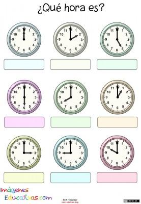 Trabaja las horas y los relojes  (5)