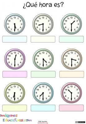 Trabaja las horas y los relojes  (9)
