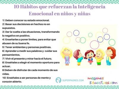 10 Hábitos que refuerzan la Inteligencia Emocional en niños y niñas