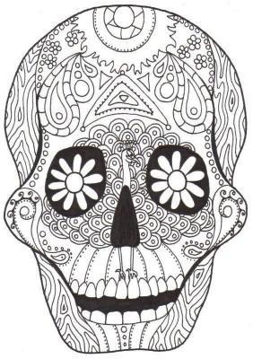 Dibujos para colorear el día de los muertos (10)