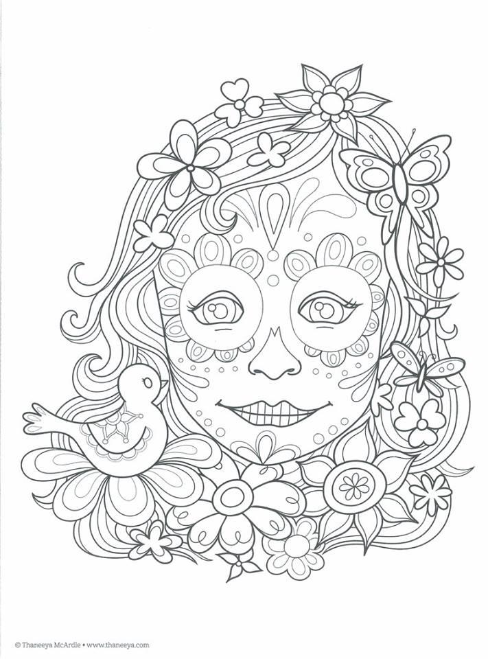 Dibujos Para Colorear El Día De Los Muertos 13 Imagenes