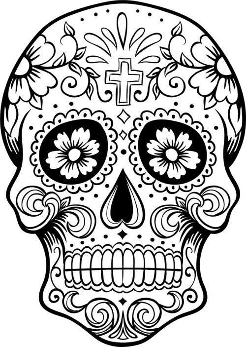 Dibujos para colorear el d a de los muertos 16 for El dia de los muertos coloring pages