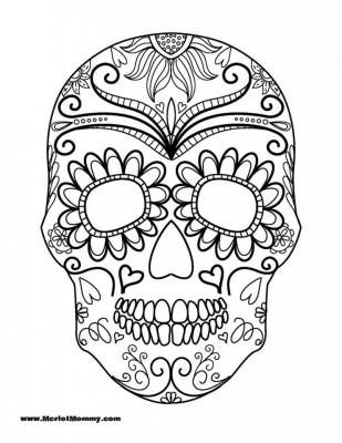Dibujos para colorear el día de los muertos (17)