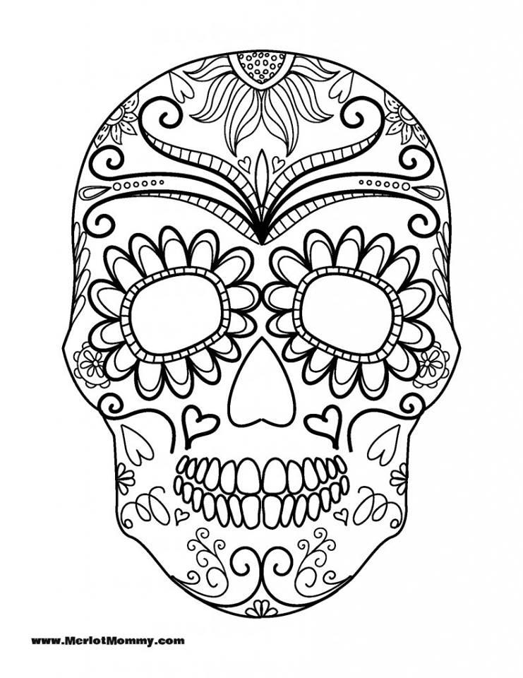 Dibujos para colorear el día de los muertos (17