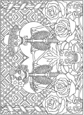 Colección Más De 50 Dibujos Para Colorear El Día De Los Muertos