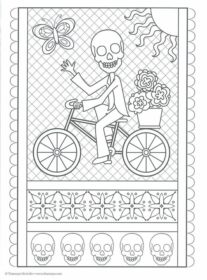 Dibujos para colorear el día de los muertos (21