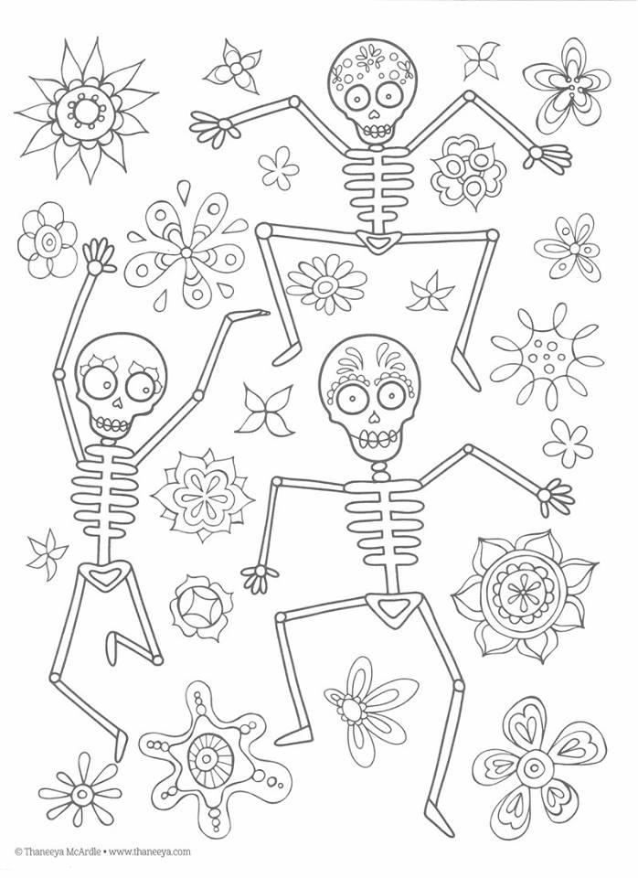 Dibujos Para Colorear El Día De Los Muertos 26 Imagenes