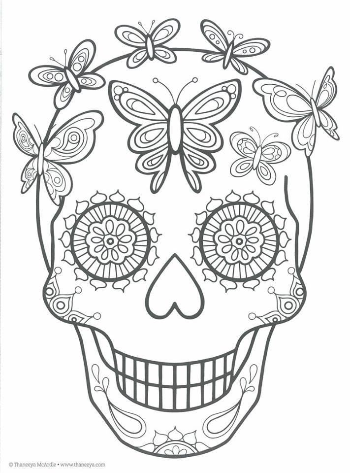 Dibujos para colorear el día de los muertos (27