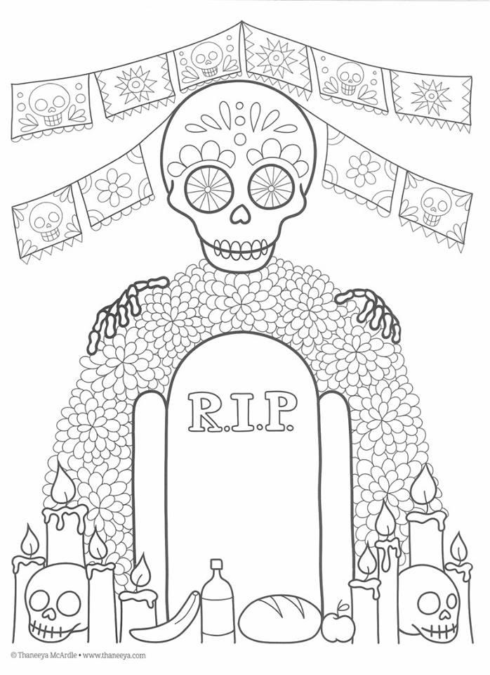 Dibujos para colorear el día de los muertos (39