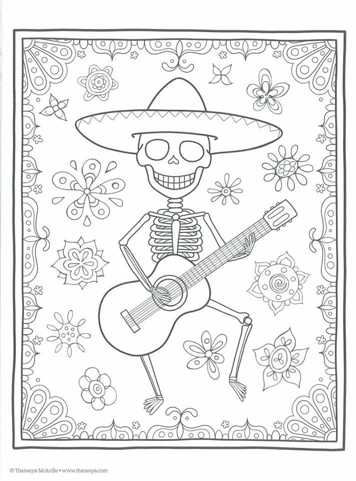 Dibujos para colorear el día de los muertos (42