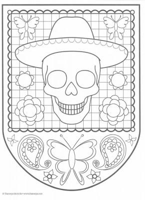 Dibujos para colorear el día de los muertos (43)