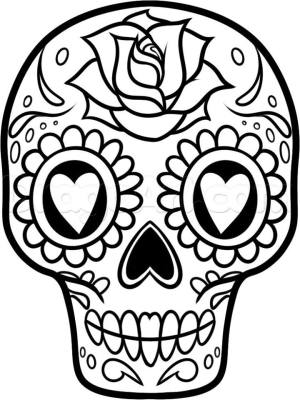 Dibujos para colorear el día de los muertos (49)