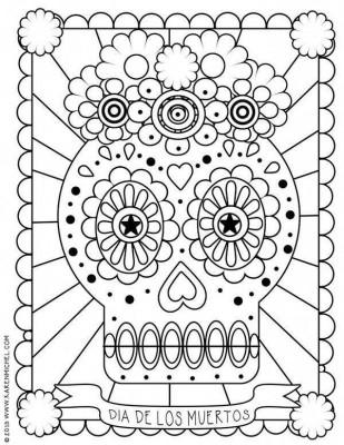 Dibujos para colorear el día de los muertos (50)