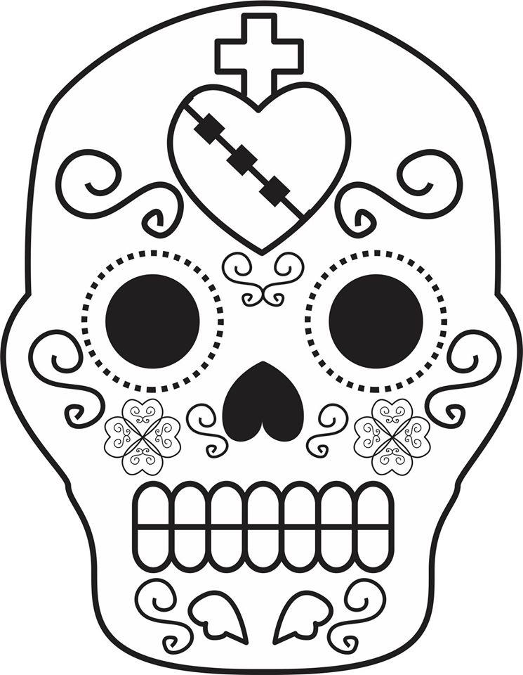 Dibujos para colorear el día de los muertos (55