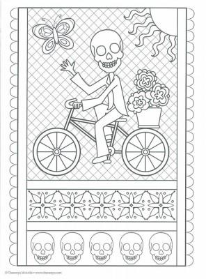 Dibujos para colorear el día de los muertos (56)