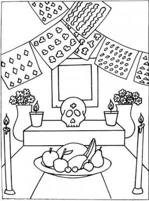 Dibujos Para Colorear De Esqueletos De Dia De Muertos Esqueleto