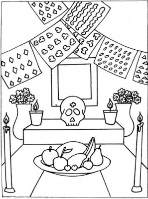 Dibujos para colorear el día de los muertos (57)