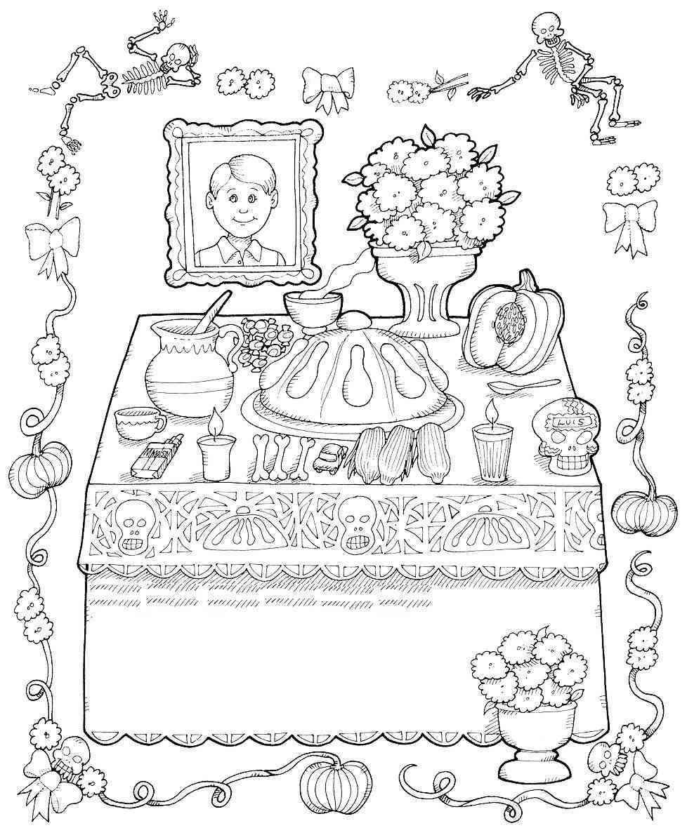 Dibujos para colorear el día de los muertos (58