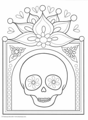 Dibujos para colorear el día de los muertos (6)