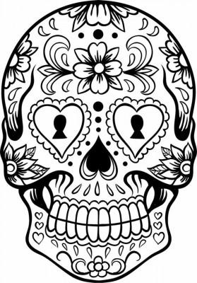 Coleccion Mas De 50 Dibujos Para Colorear El Dia De Los Muertos Diferentes Niveles De Dificultad