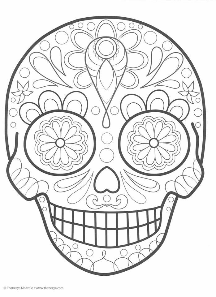 Dibujos Para Colorear El Día De Los Muertos 9 Imagenes