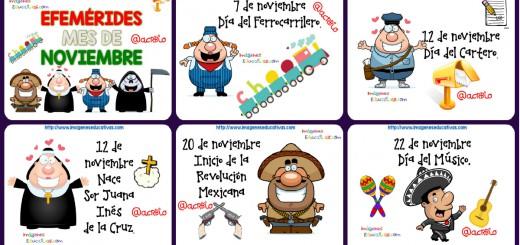 Efemérides noviembre Fondo Blanco Portada