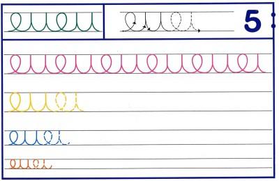 Fichas Grafomotricidad trabajamos la grafia de los números (44)