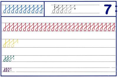 Fichas Grafomotricidad trabajamos la grafia de los números (62)