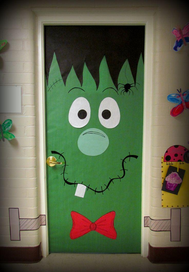 Halloween puertas 10 imagenes educativas for Como decorar una puerta