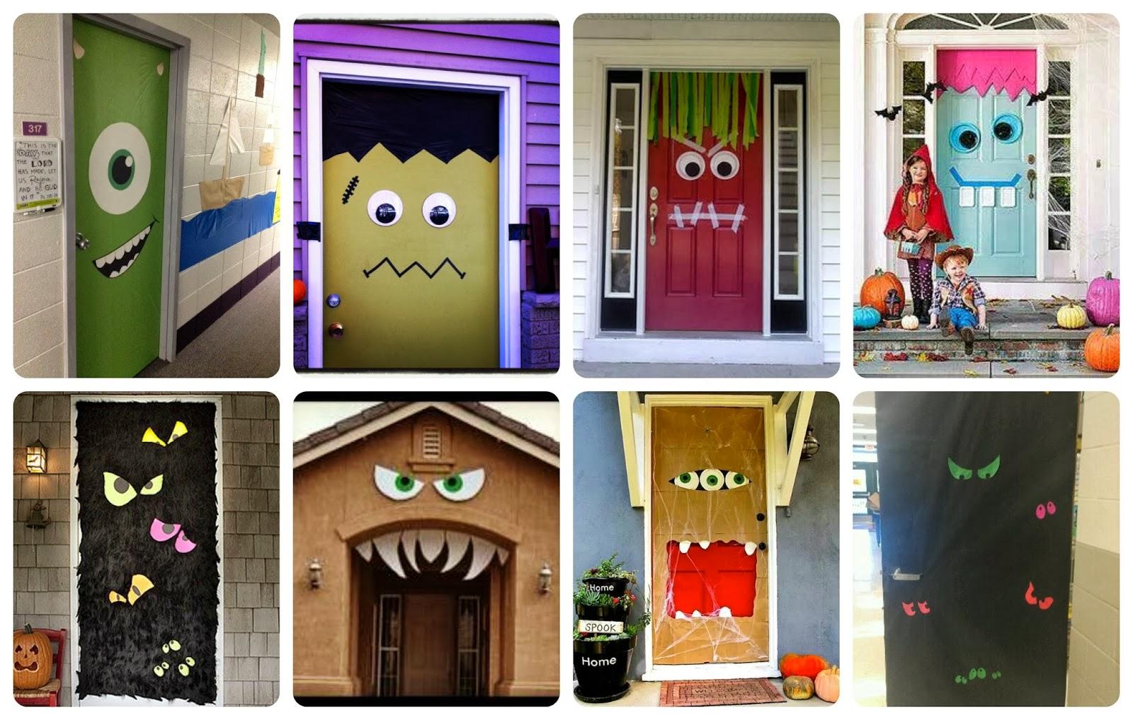 Halloween puertas 18 imagenes educativas for Puertas decoradas halloween calabaza