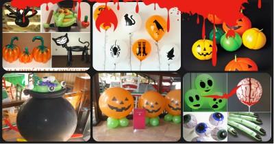 """Ideas para decorar con globos para niños """"Halloween"""" Portada"""