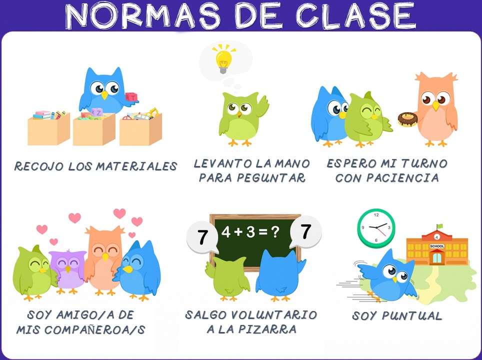 Normas de clase 1 imagenes educativas for 10 objetos del salon de clases en ingles
