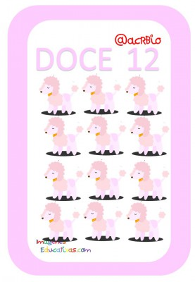 Tarjetas Números Perritos Imagenes Educativas (12)
