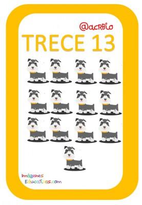 Tarjetas Números Perritos Imagenes Educativas (13)