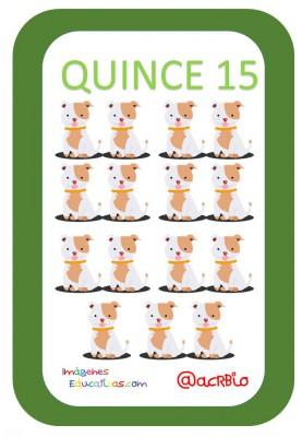 Tarjetas Números Perritos Imagenes Educativas (15)