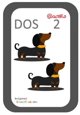 Tarjetas Números Perritos Imagenes Educativas (2)