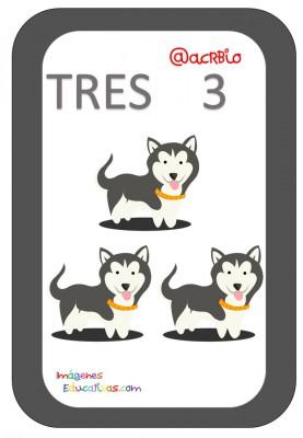 Tarjetas Números Perritos Imagenes Educativas (3)