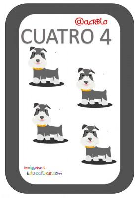 Tarjetas Números Perritos Imagenes Educativas (4)