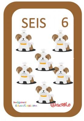 Tarjetas Números Perritos Imagenes Educativas (6)