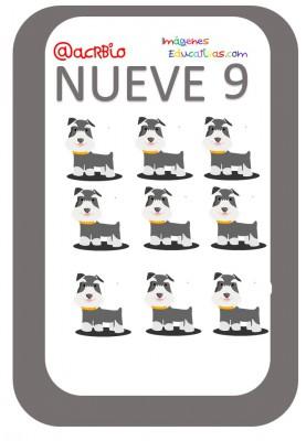 Tarjetas Números Perritos Imagenes Educativas (9)