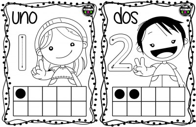 Tarjetas números para colorear (2)