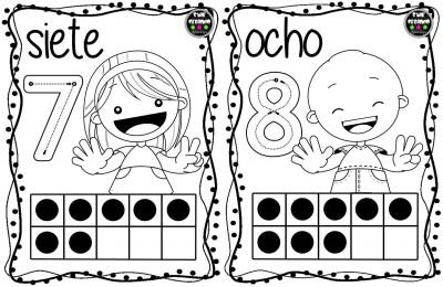 Tarjetas números para colorear (5)