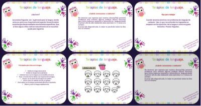 Terapias del lenguaje, ejercicios para mejorar Portada