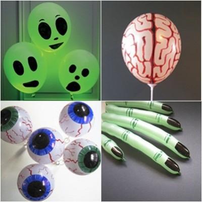 "ideas para decorar con globos para niños ""Halloween"" (10)"
