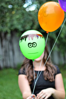 "ideas para decorar con globos para niños ""Halloween"" (7)"